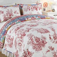 Clever Carriage Home Disney's Beauty and the Beast 100% Cotton ... & Clever Carriage Home Provincial Toile 3pc Quilt Set Adamdwight.com