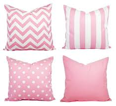 Light Pink Throw Pillow Cover