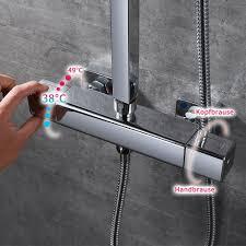 Thermostatisch Duschsystem Verstellbarer Moderner Duschset Homelody Regendusche Duscharmatur