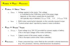 motor controllers input cur versus