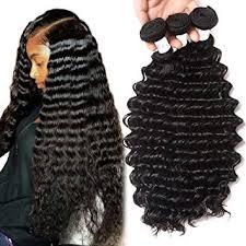 Bundle Hair Length Chart Brazilian Deep Wave 3 Bundles 20 22 24inch 100 Unprocessed Virgin Brazilian Hair Bundles