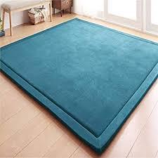 Amazoncom Luxury Large Bedroom Carpet Coral Velvet Mat Memory Foam Bath Rug Rectangle  Of Turquoise