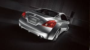 nissan altima 2014 coupe. 2013 nissan altima coupe rear profile in silver 2014