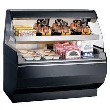 alto shaam ed2sys 48 2s blk 48 display case w 2 tiers curved glass sliding rear door black