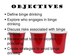 Define - Alcohol Risks For Ppt Do Review Discuss In What Binge Who Drinking  Associated Objectives With Download Engages To Explore