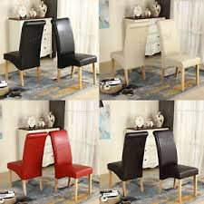 faux leather dining chairs ebay. image is loading premium-dining-chairs-faux-leather-roll-top-scroll- faux leather dining chairs ebay t