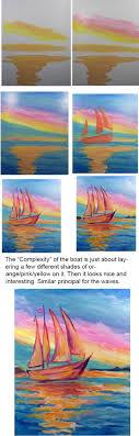 Interesting Paint Ideas Best 25 Sailboat Painting Ideas On Pinterest Sunset Painting