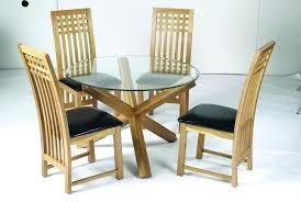oak top dining table solid oak legs with glass top round dining table round glass top dining table oak legs
