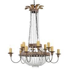 iron crystal chandelier