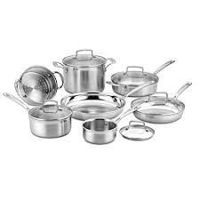 tri ply cookware. Perfect Cookware Cuisinart 12 Piece TriPly Cookware Set Multi Stainless Steel On Tri Ply E