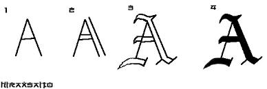 Resultado de imaxes para letras goticas medievales