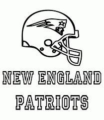 helmet new england patriots coloring pages