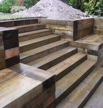 Small Picture How to build a retaining wall with railway sleepers New Garden