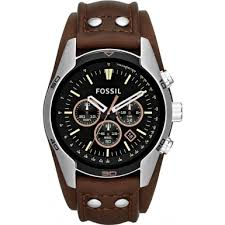 ch2891 coachman fossil men watch watches2u fossil ch2891 mens coachman brown leather chronograph watch