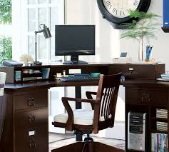 pottery barn home office furniture. Bedford Smart Technology™ Corner Desk Hutch, Antique White | Pottery Barn Home Office Furniture