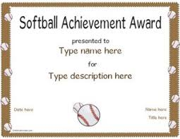 Free Printable Softball Certificates Blank Award Certificate Template Gold Border Best Of Recognition