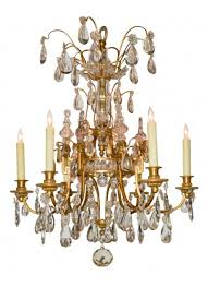 19th century northern italian bronze crystal chandelier