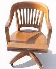 vintage wooden office chair. vintage wooden gunlocke office desk bankers chair swivel tiltback