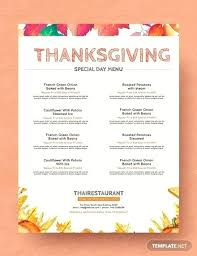 Free Thanksgiving Templates For Word Free Simple Thanksgiving Menu Templates Designs Template