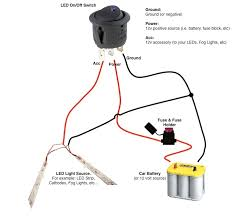 round rocker switch v led prewired in blue red green or view a diagram for wiring 2 led strips