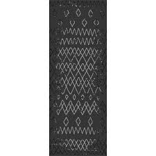 sunshine collection black 3 ft x 8 ft outdoor patio runner rug