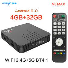 Audio Magicsee N5 Max TV Box Android 9.0 Amlogic S905X2 2GB/16GB 4GB/32GB  ROM Set Top Box