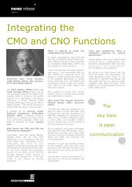 Integrating The Cmo And Cno Functions Frank Smeeks Bon