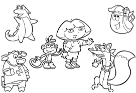 Nick Jr Coloring Pages 2 Dora And Friends Drawing At Getdrawingscom