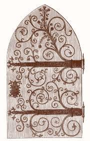 vine clip art gothic door harry potter esque