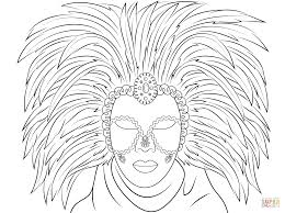 Venetian Mask Coloring Page From Masks