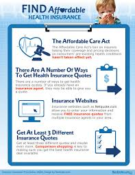 infographic find affordable health insurance