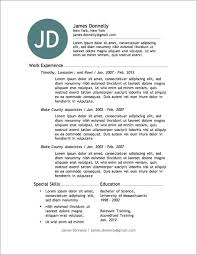 Gallery Of 7 Simple Resume Templates Free Download Best