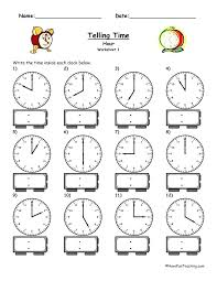Free Math Worksheets Telling Time Quarter Hour Free Printable ...