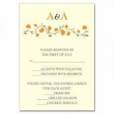 Examples Of Rsvp Cards For Wedding Reception Kupit Optom Cards