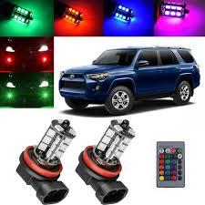 2018 Toyota 4runner Fog Light Bulb Size Details About For Toyota 4runner 2010 2018 Wireless Ir Remote Multi Color Rgb Led Fog Light X2