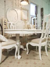 Living Room:Delectable White Dining Room With Shabby Chic Interior Also  White Brick Wall Delectable