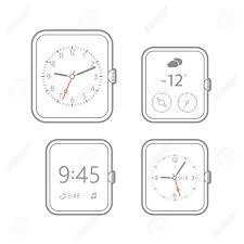 Watch Dial Design Template Modern Digital Watch Dials Template