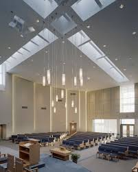Modern Church Lighting Fixtures Crossing And Assembly At Prince Of Peace Church Architect