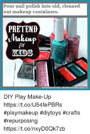 makeup memes and blo pour nail polish into old cleaned out makeup