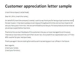 The Best Thank You Letters Thank You Letter To Customer Template Service Appreciation Ooojo Co