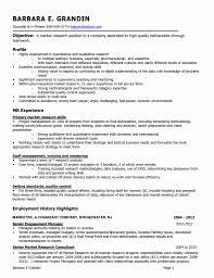 Marketing Researcher Sample Resume Market Researcher Cover Letter Sample New Senior Market Research 17