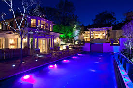 outdoor lighting effects. Outdoor Audio Video Environment By The Pool Lighting Effects