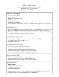 Resume Sample For Fresh Graduate Information Technology Resume Corner