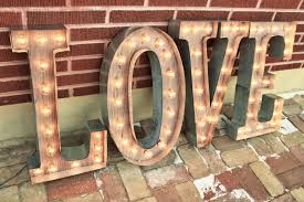 Large Letter Lights Wedding Sign Letters Flex Change Condensed Letters Marquee