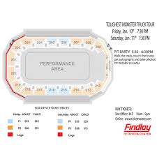 Seating Charts Findlay Toyota Center