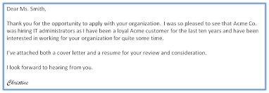 Example Resume Cover Letter Gorgeous Email Example For Sending Resume And Cover Letter Indeed Cover
