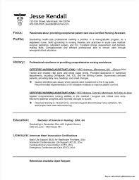 Sample Resume For Nursing Assistant Position Resume Resume