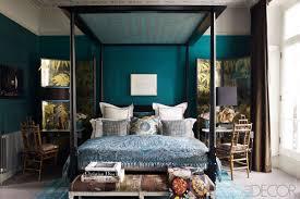 bedroom color schemes blue green teal+bedroom+elle+decor1