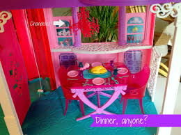 Barbie Dreamhouse Dining Room with text