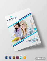 school brochure design ideas 15 free educational brochure templates word psd